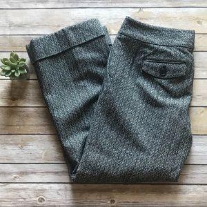 ANN TAYLOR Herringbone Print Crop Pants Sz 4